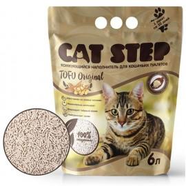 Cat Step Tofu Original - растительный комкующийся наполнитель для кошек, 6л