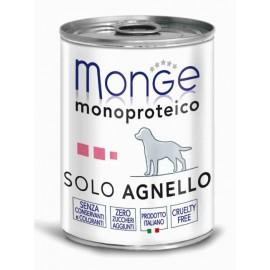Monge Dog Solo Lamb - монопротеиновый консервированный корм для собак с ягнёнком, 400гр
