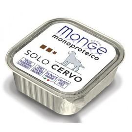 Monge Dog Solo Deer - монопротеиновый консервированный корм для собак с олениной, 150гр