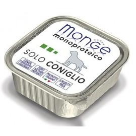Monge Dog Solo Rabbit - монопротеиновый консервированный корм для собак с кроликом, 150гр