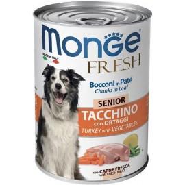 Monge Fresh Senior Turkey with Vegetables - консервированный корм для пожилых собак с индейкой и овощами, 400г