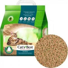 Cat's Best Sensitive - древесный, комкующийся. наполнитель для чувствительных кошек с антибактериальной добавкой, 8л