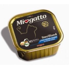 MioGatto Sterilized Salmon and Shrimps - для стерилизованных кошек с рыбой и креветками, без злаков (упаковка 16 штук по 100г)