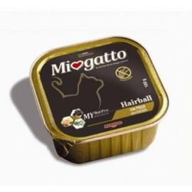 MioGatto Hairball Chicken - для кошек от комочков шерсти с курицей, без злаков (упаковка 16 штук по 100г)