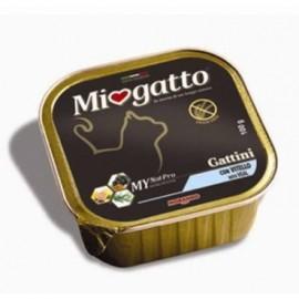 MioGatto Kitten Veal - ламистеры для котят с телятиной, без злаков (упаковка 16 штук по 100г)