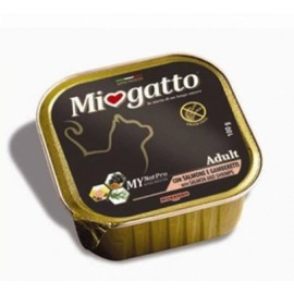 MioGatto Adult Salmon and Shrimps - для взрослых кошек с лососем и креветками, без злаков (упаковка 16 штук по 100г)