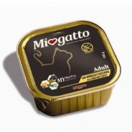 MioGatto Adult Lamb and Turkey - ламистеры для взрослых кошек с ягненком и индейкой, без злаков (упаковка 16 штук по 100г)