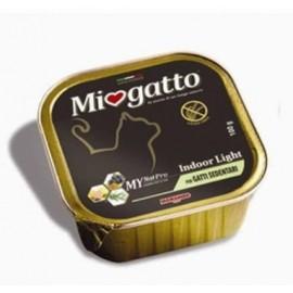 MioGatto Indoor - ламистеры для взрослых домашних кошек, без злаков (упаковка 16 штук по 100г)