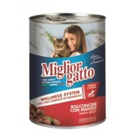 Miglior gatto Beef - консерва для кошек, кусочки с говядиной в соусе, 405г