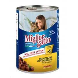 Miglior gatto Rabbit - консерва для кошек, кусочки с кроликом в соусе, 405г