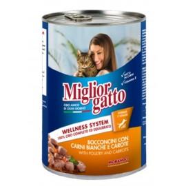 Miglior gatto Poultry/Carrots - консерва для кошек, кусочки с курицей и морковью в соусе, 405г