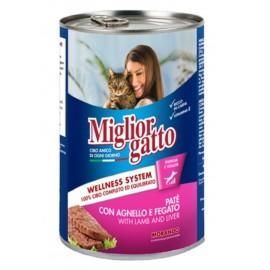 Miglior gatto Lamb/Liver - для кошек, паштет с ягнёнком и печенью, 400г
