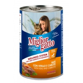 Miglior gatto Veal/Carrots - консерва для кошек, паштет с телятиной и морковью, 400г