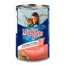 Miglior gatto Tuna/Salmon - консерва для кошек, паштет с лососем и тунцом, 400г