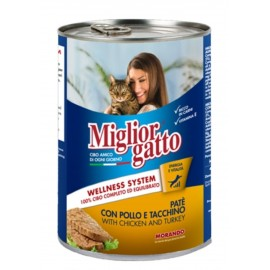 Miglior gatto Chicken/turkey - консерва для кошек, паштет с курицей и индейкой, 400г