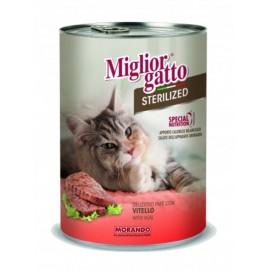 Miglior Gatto Steril - консерва для стерилизованных кошек, паштет с телятиной, 400г