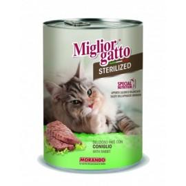 Miglior Gatto Steril - консерва для стерилизованных кошек, паштет с кроликом, 400г