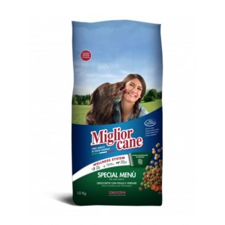 Miglior Cane SPECIAL MENU - сухой корм для собак cпециальное меню с курицей и овощами