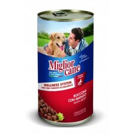 Miglior cane Beef - консерва для собак, кусочки с говядиной, 1250г