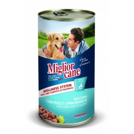 Miglior cane Fish/Poultry - консерва для собак, кусочки с рыбой и птицей, 1250г