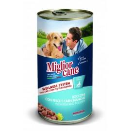 Miglior cane Classic Fish/Poultry - консерва для собак, кусочки с рыбой и птицей, 1250г