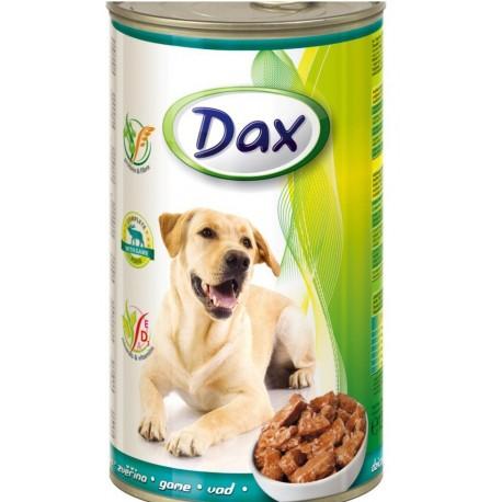 Dax for Dog - консерва для cобак с дичью, кусочками, 1240г