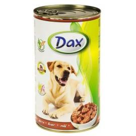 Dax for Dog - консерва для cобак с печенью, кусочками, 1240г