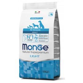 Monge Dog All Breeds Light Salmon/Rice - корм для взрослых собак, склонных к полноте (лосось и рис)