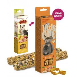 Little One Палочки для хомяков, крыс, мышей и песчанок с фруктами и орехами, 2х60г