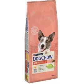 DOG CHOW ADULT ACTIVE CHICKEN - для взрослых активных собак (курица)