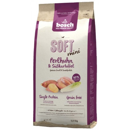 Bosch Soft+ Mini Guinea Fowl & Sweetpotato (Бош Софт+ Мини Цесарка и Батат)