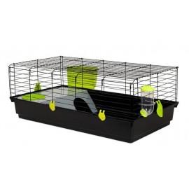 Клетка Voltrega 536 для кролика, черная, 120x59x40 см