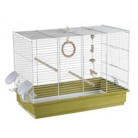 Клетка для птиц Voltrega 611BV бело-зеленая, 28x50.5x45 см