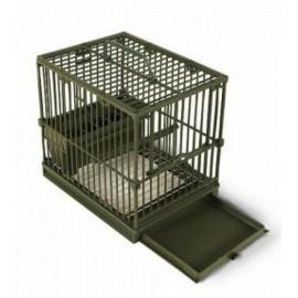 Клетка для птиц Cardellina, пластиковая 21,5x15,5x20h см