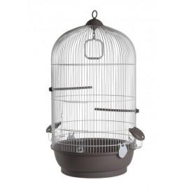Клетка для птиц Voltrega 736BG, бело-серая, 0x32,5x48 см