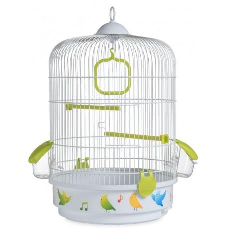 Клетка для птиц Voltrega 736BV, бело-зеленая, 0x32,5x48 см