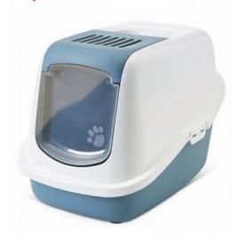 """02270WBS Туалет-домик """"SAVIC"""" """"Nestor"""" для кошек, 56х39х38,5см,белый/синий, пластик"""