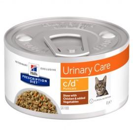 Консервы Hill's PD Feline с/d Chicken&Vegetable Stew - против мочекаменной болезни, рагу (курица, овощи), 85 г (12 штук)