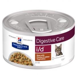 Консервы Hill's PD Feline i/d Chicken&Vegetable Stew - против болезни ЖКТ, рагу (курица, овощи), 85 г (12 штук)