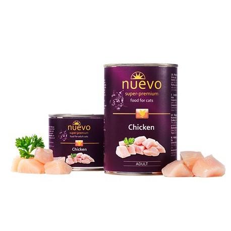 NUEVO консервы для взрослых кошек с курицей (упаковка 6 штук по 200г)