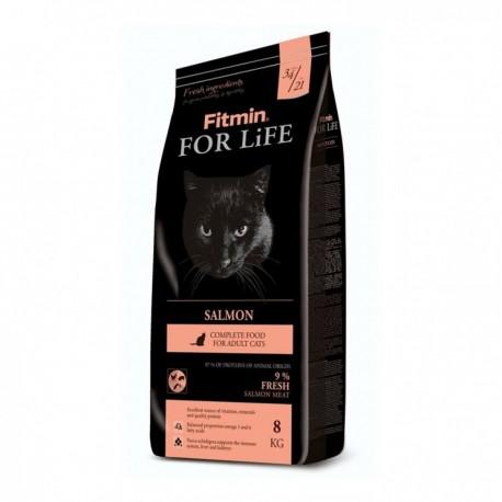 Fitmin Cat For Life Salmon - корм для взрослых кошек от 12 месяцев с лососем
