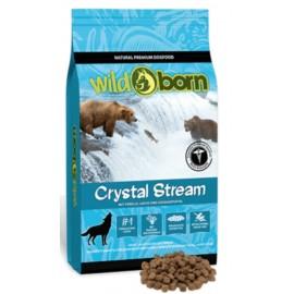 Wildborn Crystal Stream - беззерновой корм со свежей форелью, лососиной, сладким картофелем, фруктами, травами
