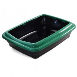 Туалет для кошек Gamma прямоугольный с бортом, 455*355*130мм