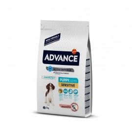 Advance Puppy Sensitive - cухой корм для щенков с чувствительным пищеварением, лосось и рис