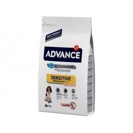 Advance Medium/Maxi Adult Sensitive - cухой корм для собак средних и крупных пород с чувствительным пищеварением, лосось и рис
