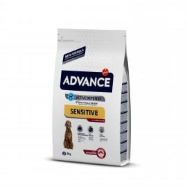 Advance Adult Sensitive - cухой корм для собак всех пород с чувствительным пищеварением, ягненок и рис