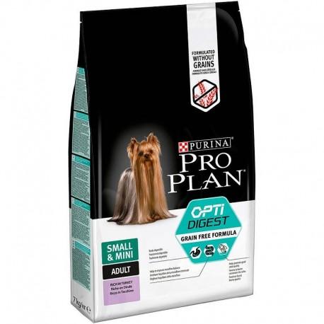Pro Plan OptiDigest Small/Mini Grain Free Formula - беззерновой корм для собак мелких пород с чувст. пищ. (индейка)