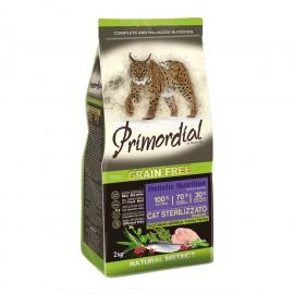 Primordial Holistic Grain-Free Neutered Turkey & Herring - беззерновой корм для стерилизованных кошек с индейкой и сельдью