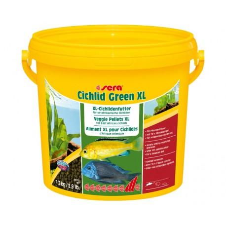 Sera Cichlid Green XL - корм гранулы для цихлид,10 л (3,6 кг)