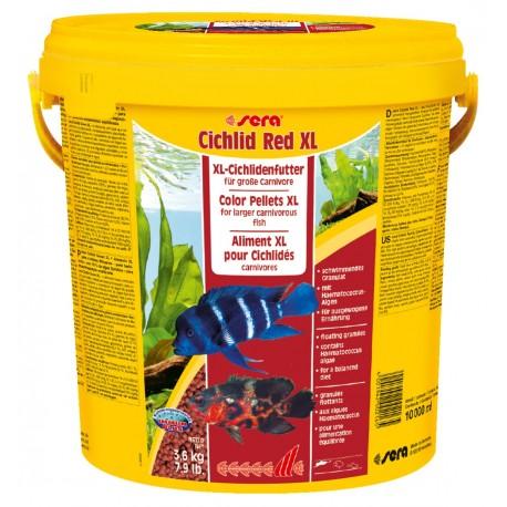 Sera Cichlid Red XL - корм гранулы для услиления окраса цихлид, 10 л (3,6 кг)